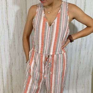 Anthropology Drew Stripped Jumpsuit NWT